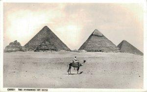 Egypt Cairo The Pyramids of Giza Gizeh RPPC 07.04