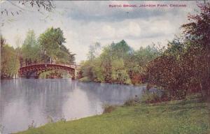 Illinois Chicago Rustic Bridge Jackson Park