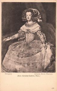 Infant Maria Theresa portrait by Velazquez art postcard