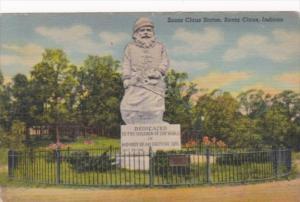 Indiana Santa Claus Santa Claus Statue Curteich