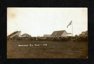 MN ? Stevens County Fair MORRIS MINNESOTA Postcard Real Photo RPPC 1913