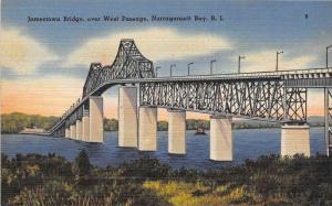 Jamestown Bridge, over West Passage, Narragansett Bay, Rhode Island