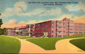 Michigan East Lansing Michigan State College East Shaw Hall and West Shaw Hal...