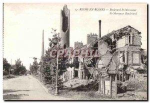 Reims In Ruins Boulevard St Marceaux Army