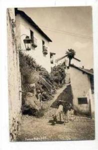 RP  Man & donkey on street, Taxco, Mexico PU-1937