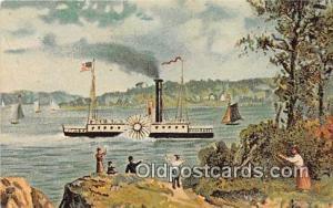Robert Fulton's Clermont Kapex 71 Host April 17-18 Albany, NY Ship Postcard P...