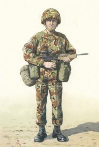 Lance Corporal Royal Military Regiment Of Wales Uniform Postcard