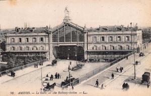 Vintage Postcard AMIENS La Gare The Railway Station FRANCE