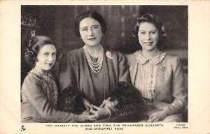 Her Majesty The Queen and The Princesses Elizabeth and Margaret Rose