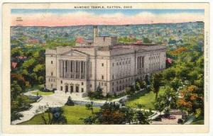 Masonic Temple, Dayton, Ohio,  PU-1940