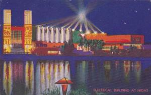 Chicago World's Fair 1933 Electrical Building At Night