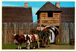 Canada Ontario Thunder Bay Old Fort William Ox Drawn Cart