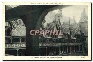 Old Postcard Hotel Dieu in Beaune Cote d'Or, the Court of Honor for the gallery
