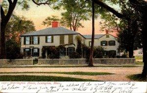 Massachsuetts Lexington Harrington House 1908