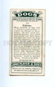 166924 ESKIMO by WARDLE John Player CIGARETTE card ADVERTISING