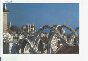Postal 014130: Ruinas del convento de Carmo, Lisboa, Portugal