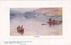 Boat, A Lake, 'Mid Smoking Woods, That Blue & Gray Gleams Streak'D & Dappled...