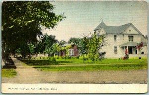 1913 Fort  Morgan, Colorado Postcard PLATTE AVENUE Residential Street Scene