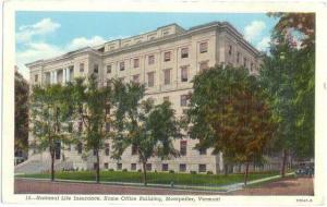 National Life Insurance, Home Office Building, Montpelier, Vermont, VT, Linen