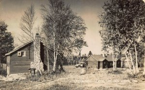 LAC DES LOUPS QUEBEC CANADA~O'CONNELL LODGE-CABIN STONE FPL~1947 PSTMK POSTCARD