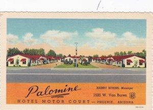 Arizona Phoenix Palomino Hotel Motor Court Curteich sk6920