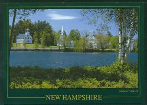 Marlow Village Town New Hampshire Scene View Postcard