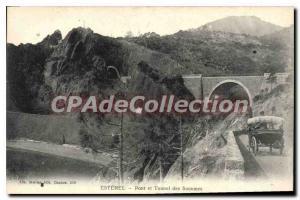 Postcard Old Esterel bridge and tunnel Saoumes