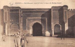 Morocco Meknes Bab-Mansour, construit sous le Regne de Moulay-Ismael