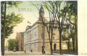 City Hall and Armory, Elmira, New York, UNDivided Back