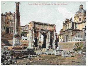 Italy Roma Arco Settimio Severo Roman Forum Ruins Postcard