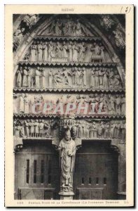 Old Postcard Reims Portain North Cathedrale The Last Judgment