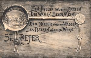AK 1906 Austria Salzburg St Peter Ein Heller und ein Batzen Die Waren Beide Mein