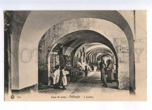 232943 ITALY Lago di COMO BELLAGIO market Vintage postcard
