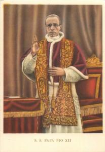 Pope Pius S. S. Papa Pio XII cartolina postale vecchia
