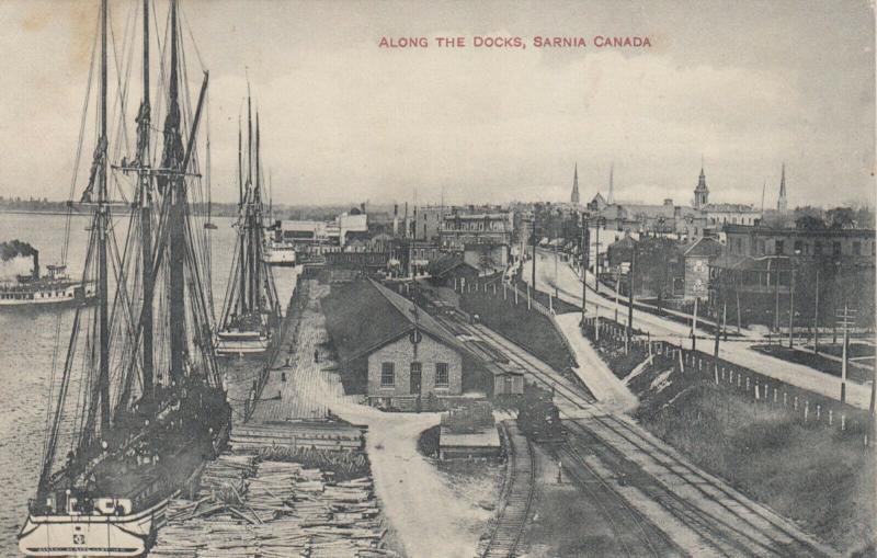 SARNIA , Ontario , 1909 ; Along the Docks