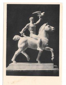RPPC Der Deutsche Sieg Sculpture Prof Otto Hofner Kuhne Austria 4X6 Art Postcard