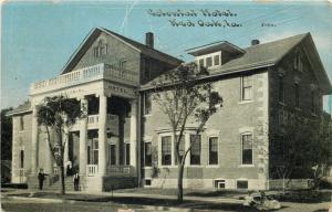 Red Oak IA Colonial Hotel Columns~Fetja Lived Here, 1907~Bluesky Postcard 1910