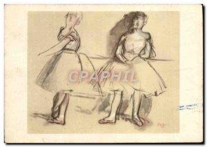 Modern Postcard Degas Dancer at the bar
