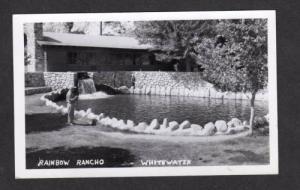 CA Rainbow Rancho Trout LAKE WHITEWATER CANYON California Postcard Real Photo RP