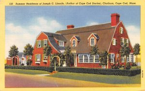 Summer Residence of Joseph C. Lincoln Chatham, Massachusetts Postcard