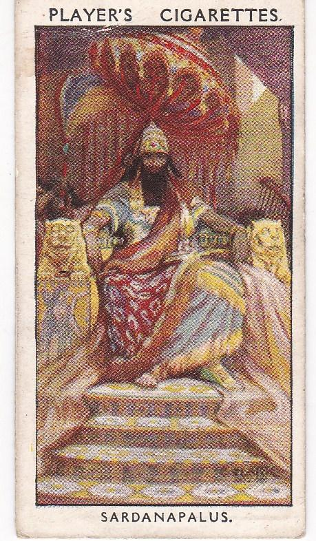 Cigarette Card Player's Dandies No 2 Sardanapalus : A Mighty Dandy