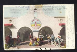 ALBUQUERQUE NEW MEXICO FRED HARVEY INDIAN BUILDING VINTAGE POSTCARD NM
