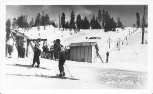 COLD SPRINGS, OHIO COLD SPRINGS SKI LIFT RPPC REAL PHOTO POSTCARD