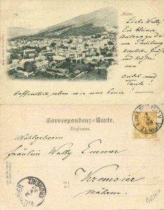 bosnia and herzegovina, MOSTAR Мостар, Partial View (1899) Postcard