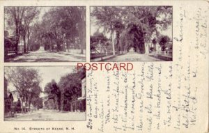pre-1907 No. 14 STREETS OF KEENE, N H 1903 views of Court, West & Washington Sts