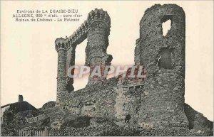 Postcard Old Surroundings Chaise Dieu Allegre 900 m Alt Cure Air Castle Ruins...