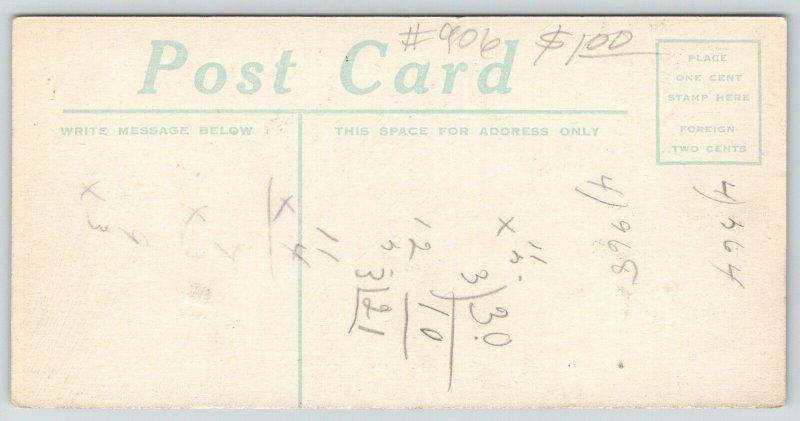 Hershey PA~Employee Apartments~Chocolate Co Premium~1910 Candy Bar Size Postcard
