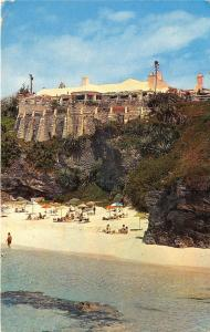 Southampton Bermuda~Reefs Beach Club~Sunbathers on Beach~Note on Back~1950s Pc