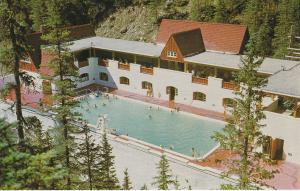 Miette Hots Springs Swimming Pool, Jasper National Park, Alberta, Canada, 50-60s