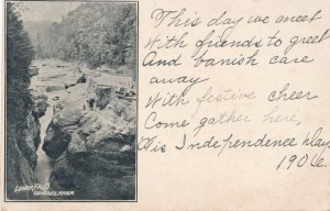 Letchworth State Park NY New York Lower Falls on Genesee Independence Day Poem